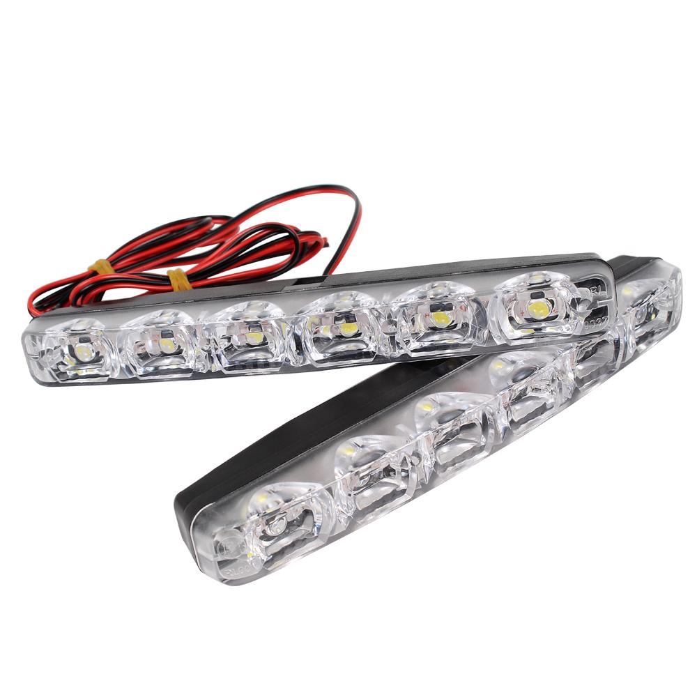 86f7a0bf26c 12V LED DRL päevasõidutulede komplekt E4 tähisega 15,5 x 1,5 cm ...
